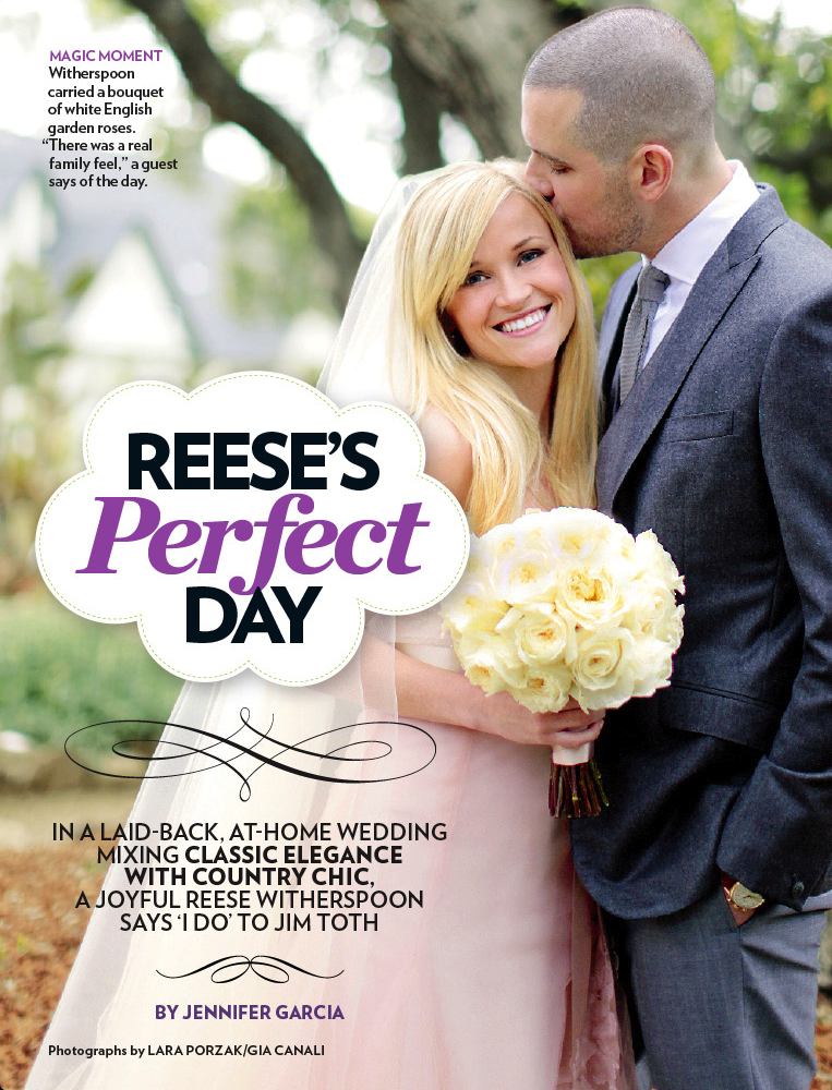 Reese Witherspoon and Jim Toth's wedding