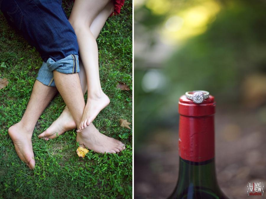 romantic engagement photos north carolina