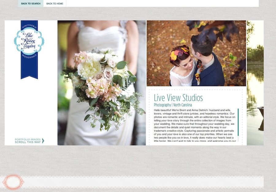 Live View Studios Southern Weddings Blue Ribbon Vendor