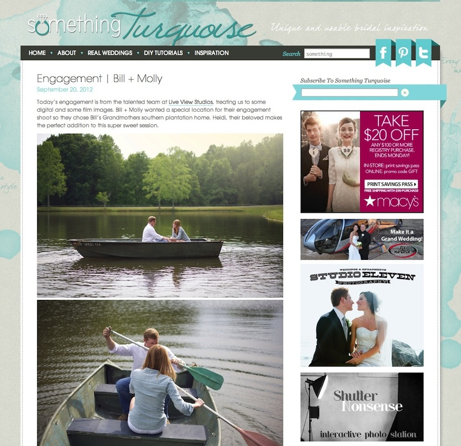 engagement   bill + molly » Something Turquoise {daily bridal inspiration} Live View Studios