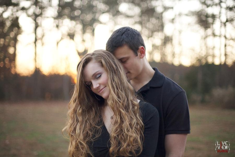 romantic couples engagement photography nc