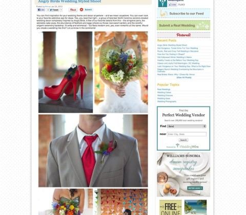 Angry Birds Wedding Styled Shoot | WeddingWire- The Blog