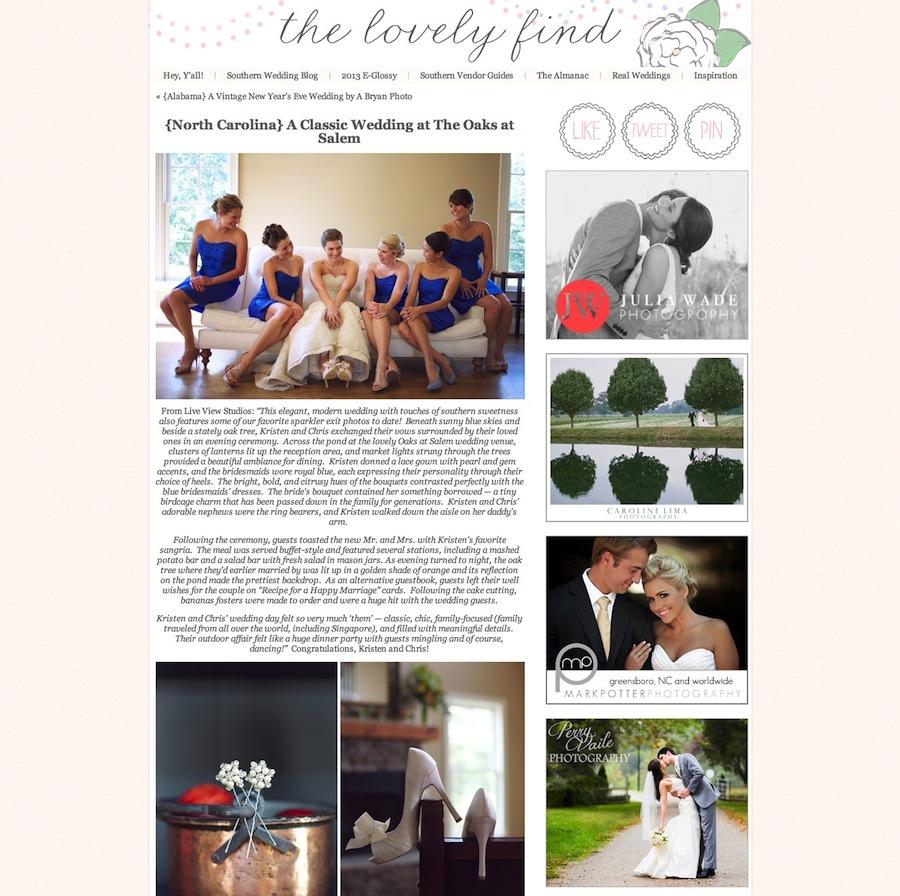 {North Carolina} A Classic Wedding at The Oaks at Salem