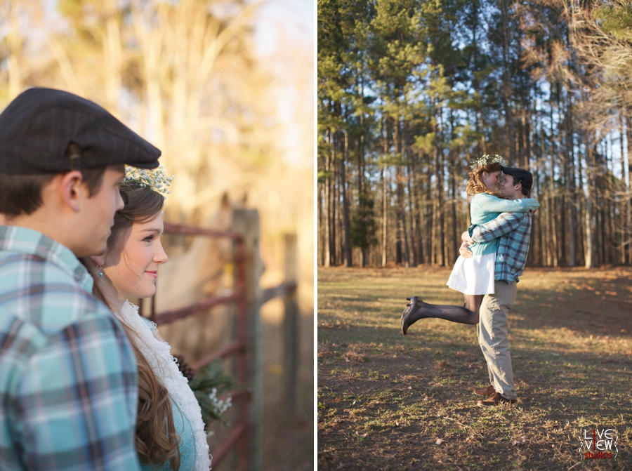 romantic winter engagement photography