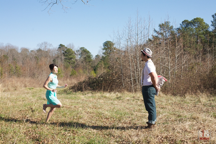 romantic valentine's day couple's photography, vintage inspired engagement photography