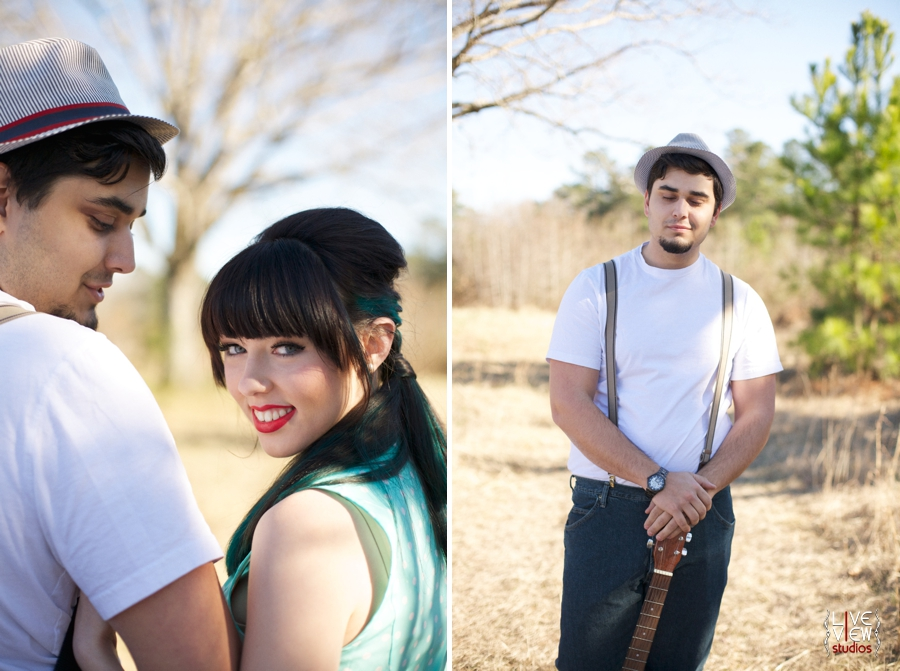 southern engagement photography, retro inspired portrait photographers