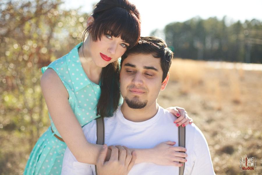 southern couple's portrait photography