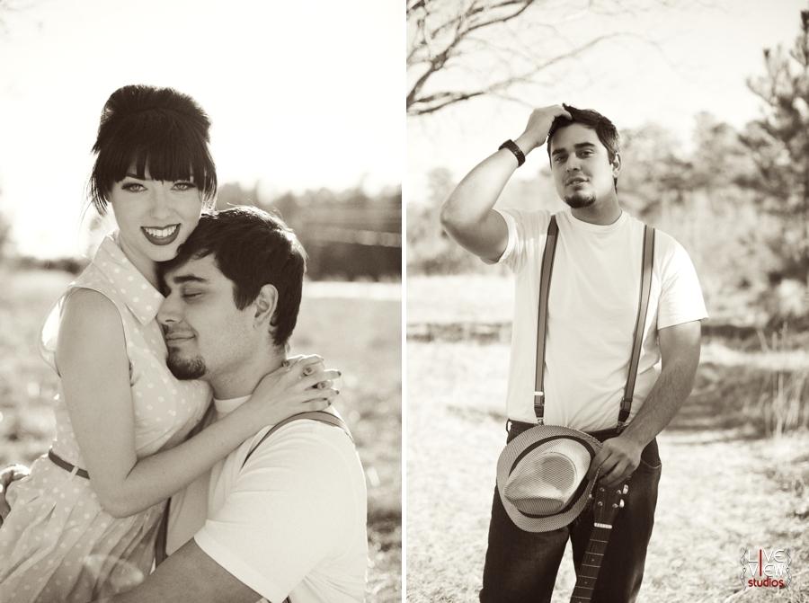 blackandwhite couple's portraits, raleigh nc engagement photographers