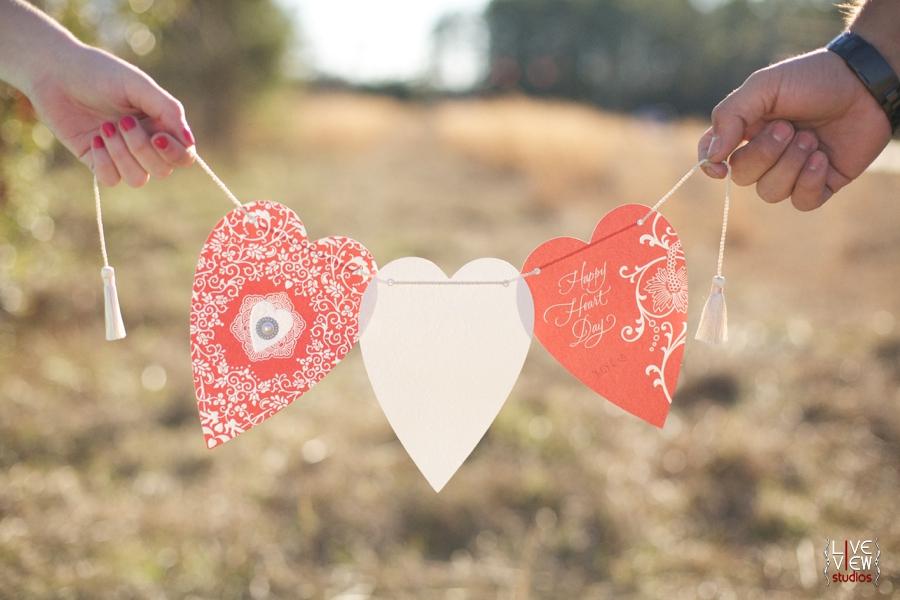 diy valentine's day heart banner