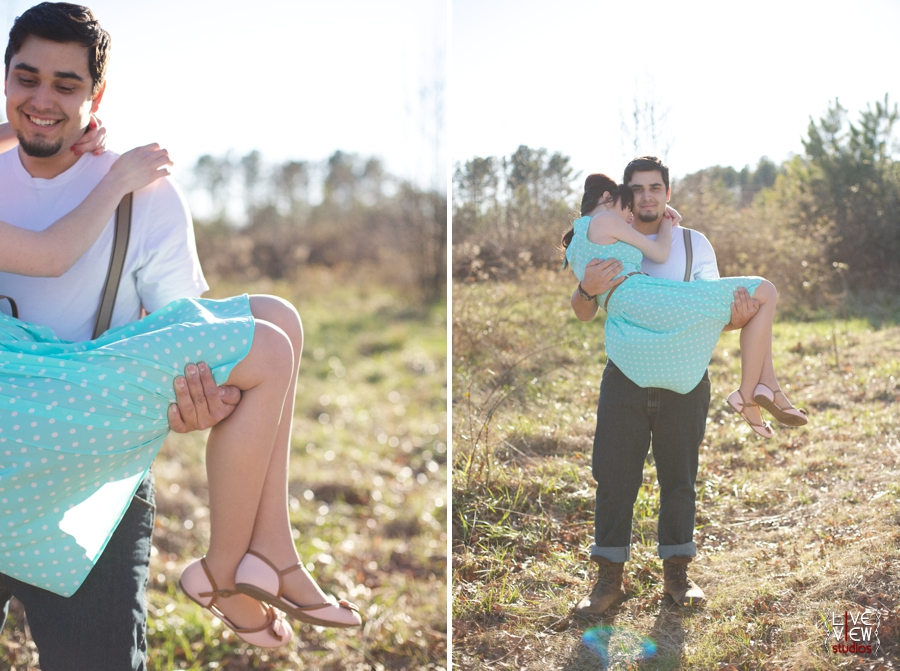 romantic southern retro engagement photography, raleigh nc couple's photographers