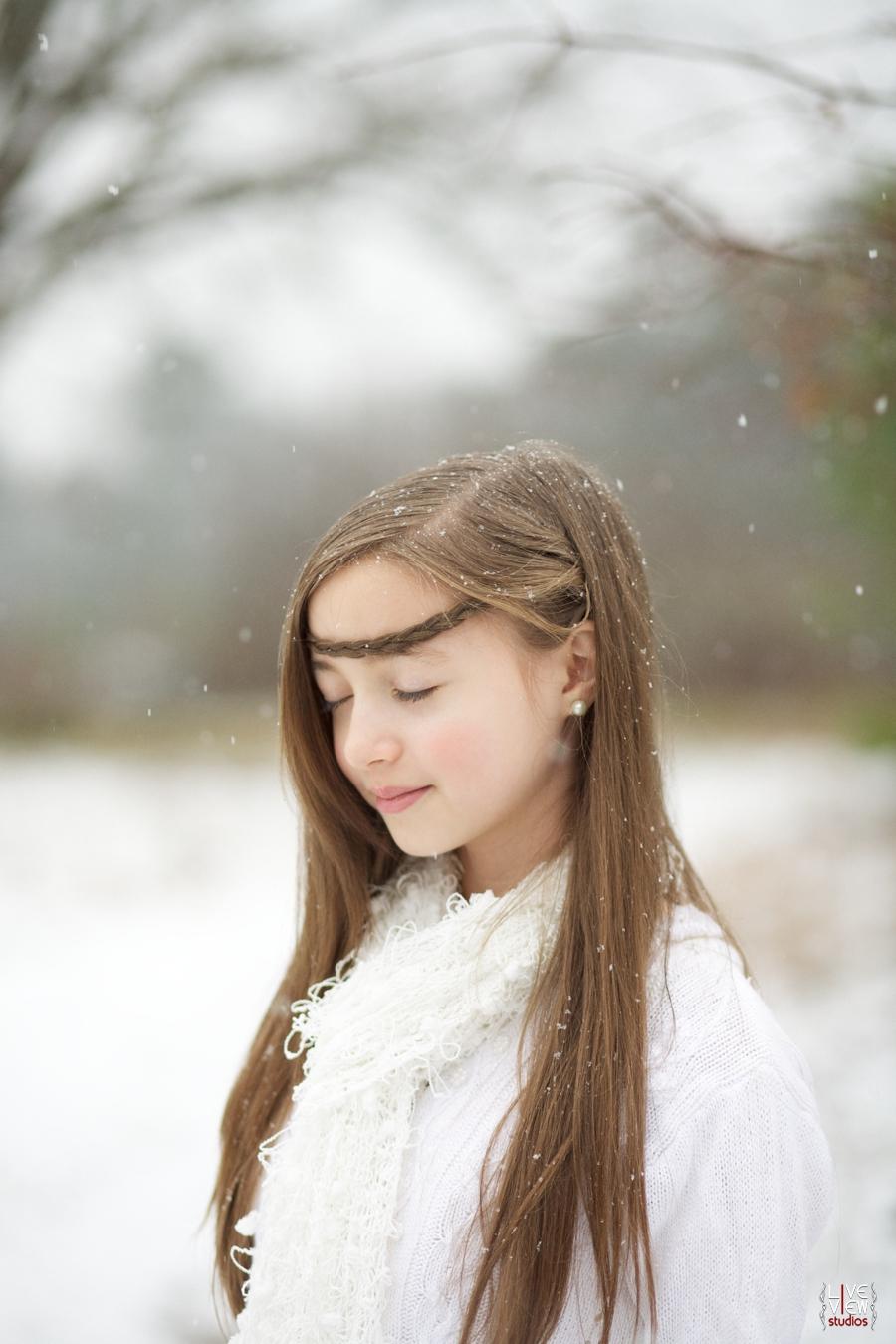 north carolina snow photography, ethereal children's portrait photographers