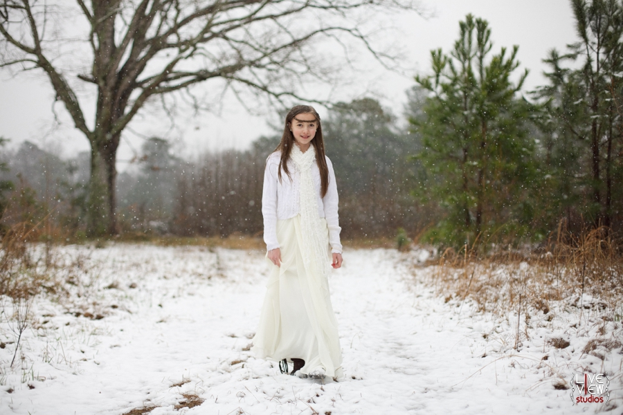 ethereal winter children's portrait photography
