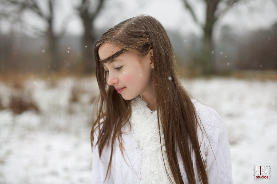 beautiful ethereal children's portrait photography, vintage winter family photography