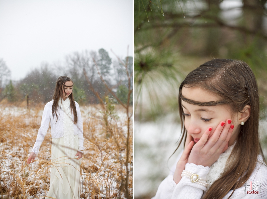 children's outdoor winter portraits, raleigh nc southern family photographers