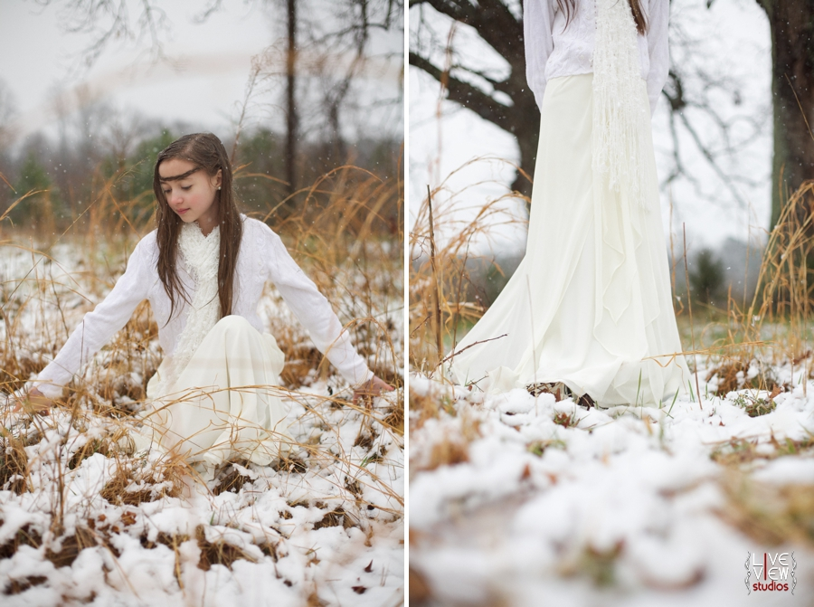 snow princess theme for children's portraits, ethereal family photography
