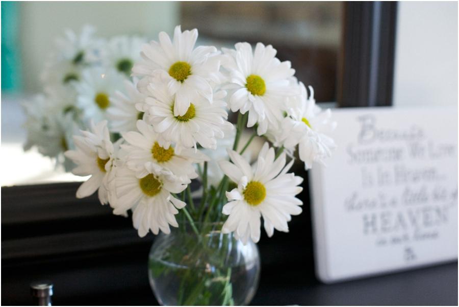 beautiful fresh flowers on vintage dresser, rustic interior decorating ideas