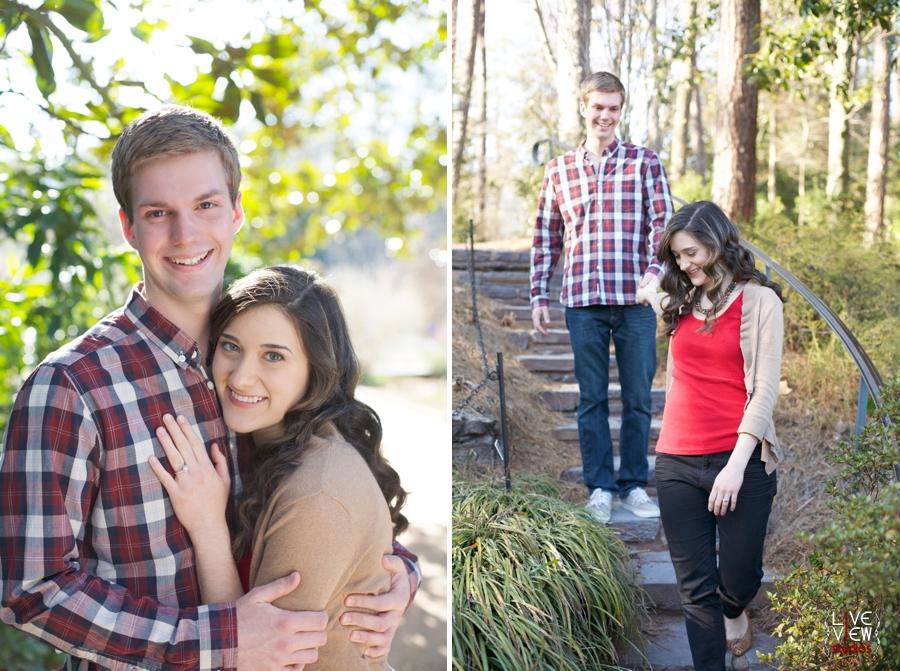 garden engagement photography, romantic couple's photographers, raleigh nc