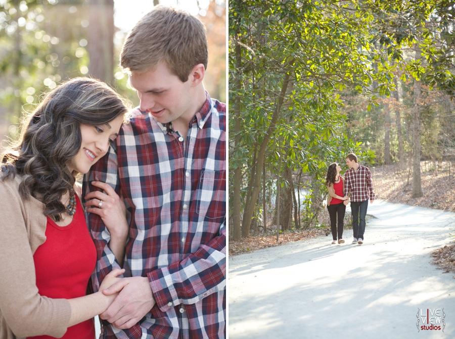 duke gardens engagement photography, raleigh nc couple's photographers