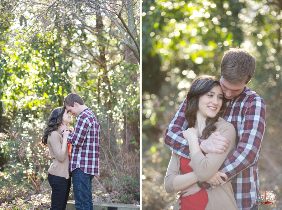 romantic garden engagement photography, southern couple's photographers, raleigh nc