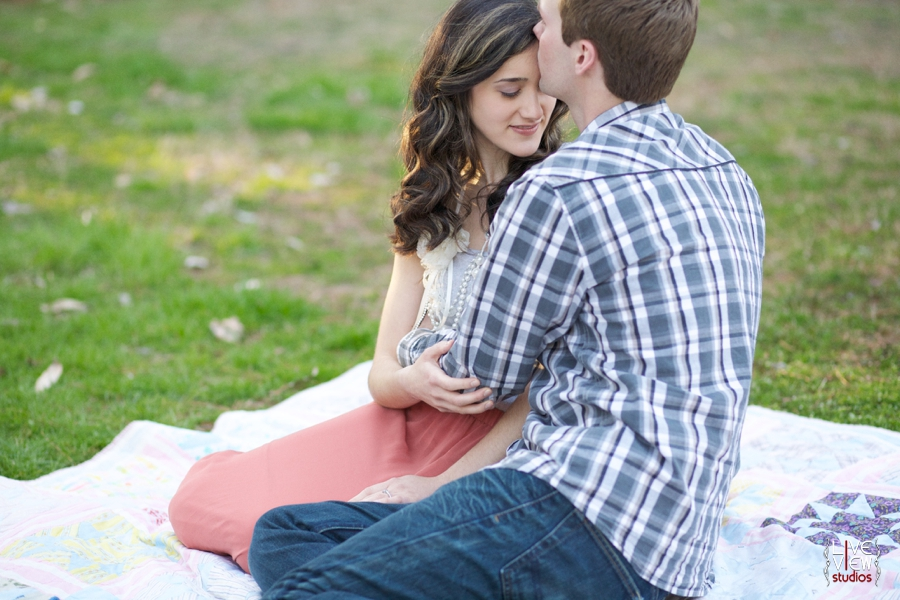 romantic spring engagement photography, raleigh nc