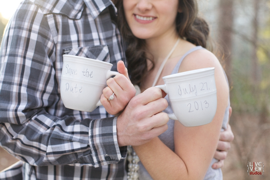 coffee lovers save-the-date inspiration, cute engagement photography