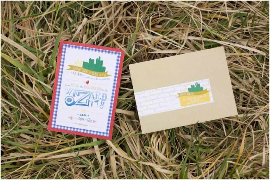 wizard of oz themed invitations, alternate wedding photography