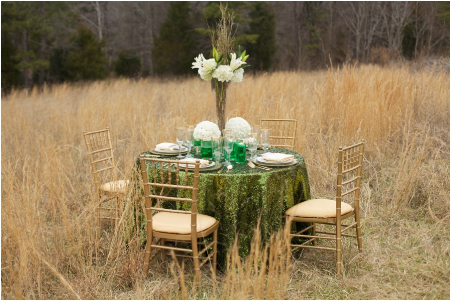 emerald wedding color schemes, beautiful reception table settings