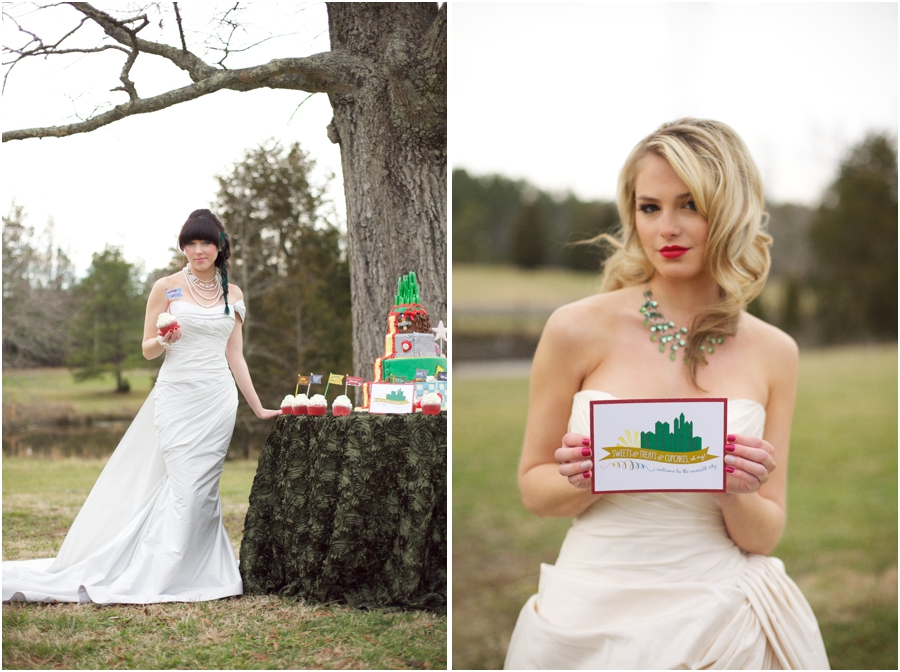 romona keveza couture wedding gowns, emerald city wedding theme