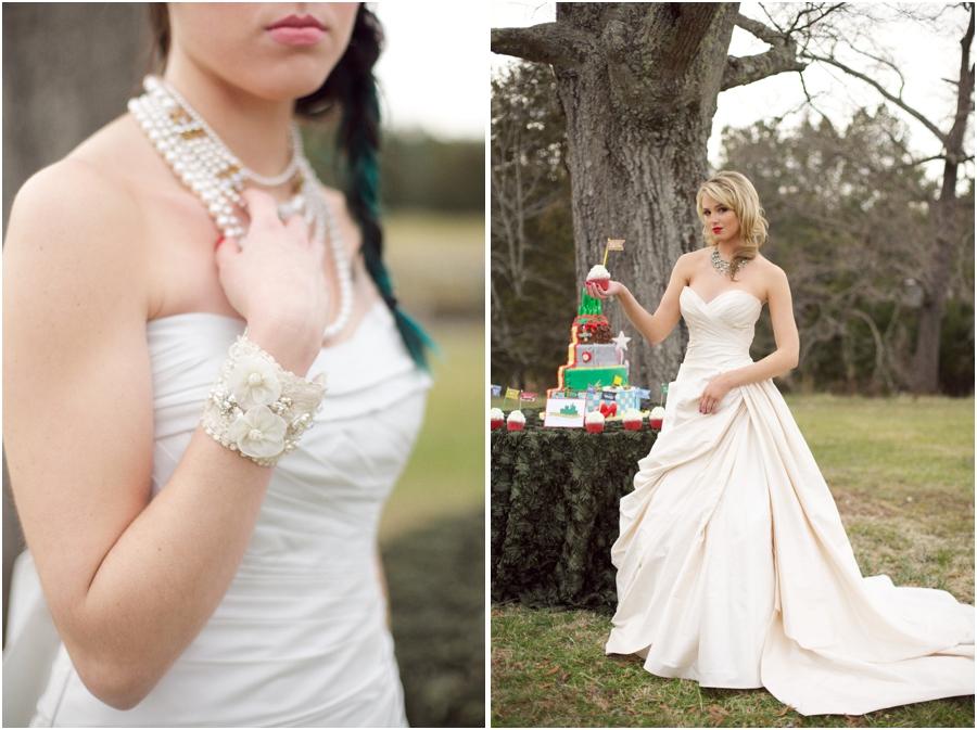 vintage statement bridal jewelry, bride with red lipstick