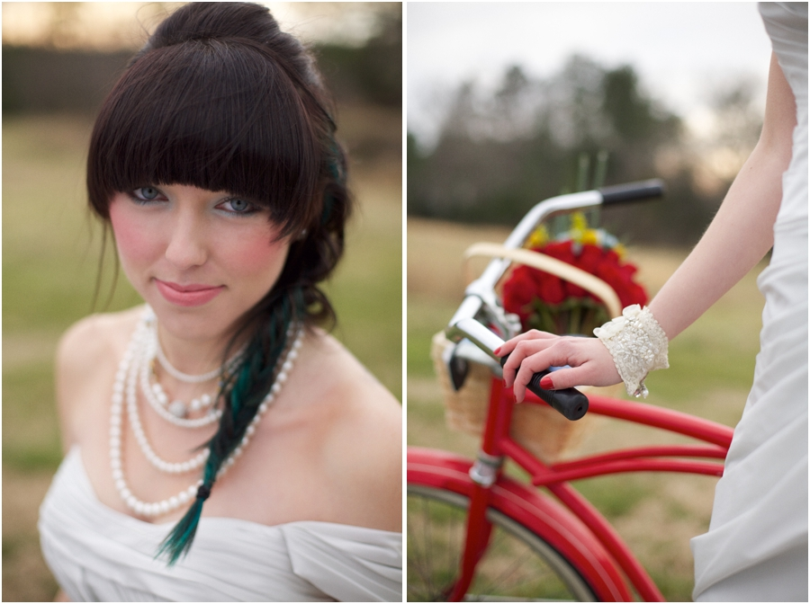 modern bridal makeup by michelle clark, bright wedding colors, vintage wedding photographers, raleigh nc