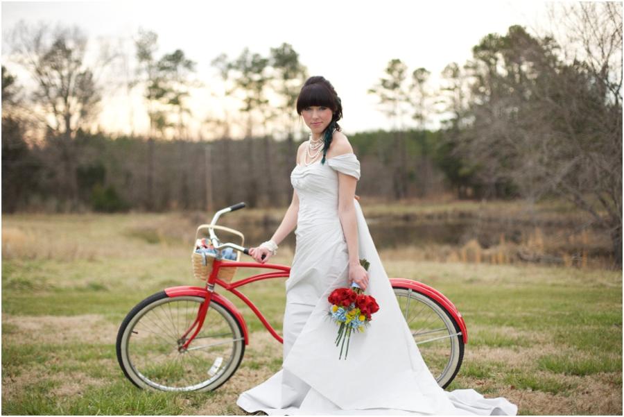 bright wedding colors, modern vintage bridal portraits