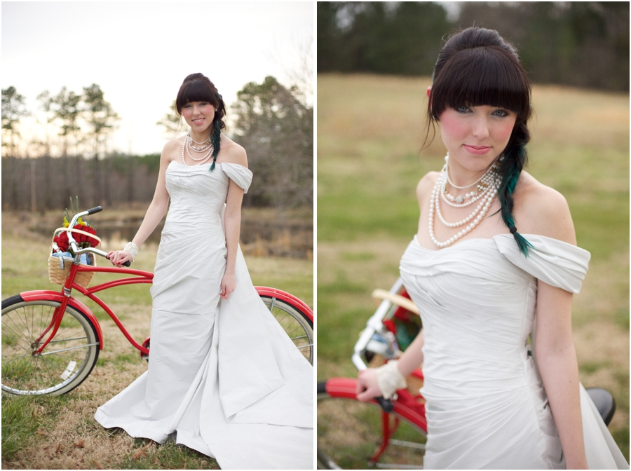 romona keveza couture wedding gowns, modern vintage bridal portrait photography, raleigh nc