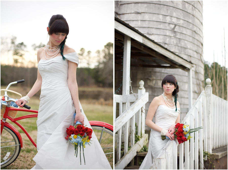 beautiful southern wedding photography, country bridal portraits