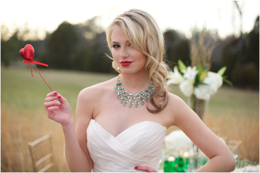 bride with red lipstick, modern wedding photography, raleigh nc