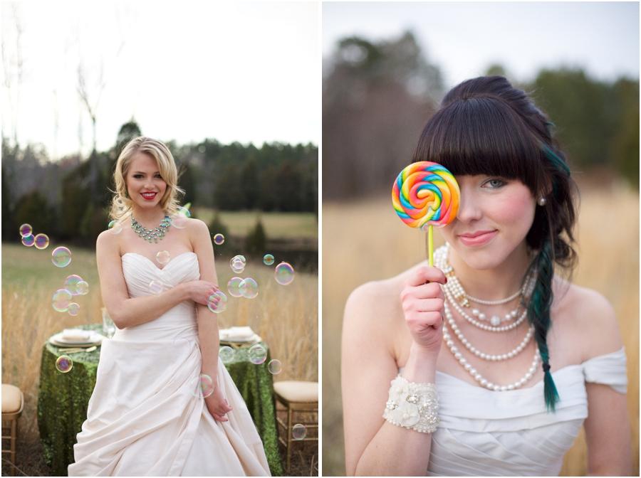 alternative wedding themes, fun bridal portraits