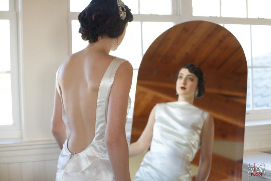 20's inspired wedding dress, custom bridal gowns by edie kay