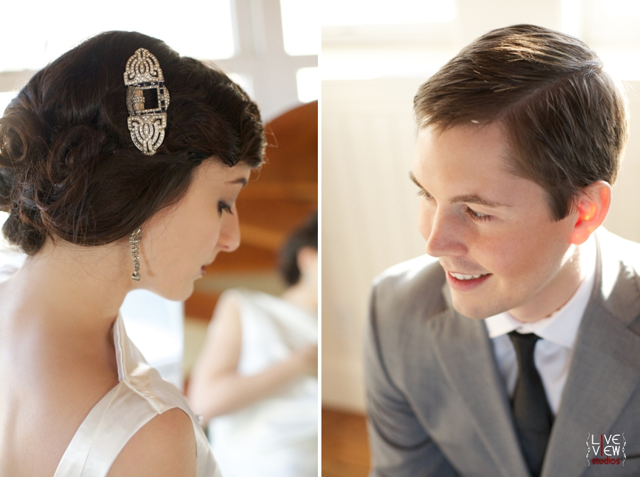 vintage bridal jewelry by oh so curio, 20's inspired portrait photography