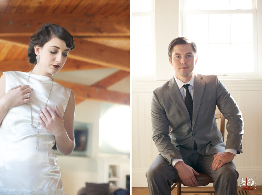 1920s inspired wedding photography, bride and groom's portraits