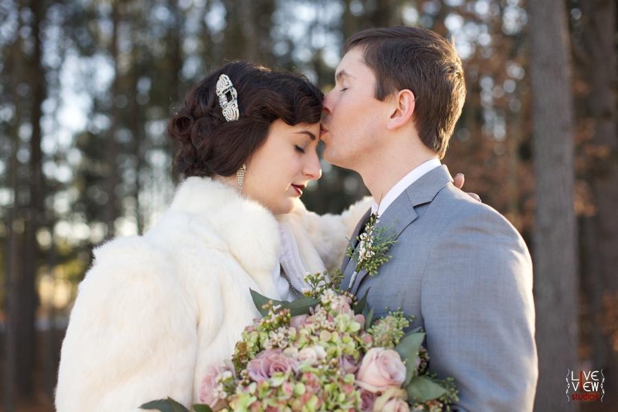 romantic winter wedding photography, vintage inspired wedding photographer