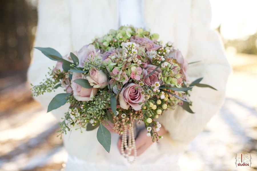 beautiful blush pink bridal bouquet with pearl accents from embellished blooms, raleigh nc wedding photographers