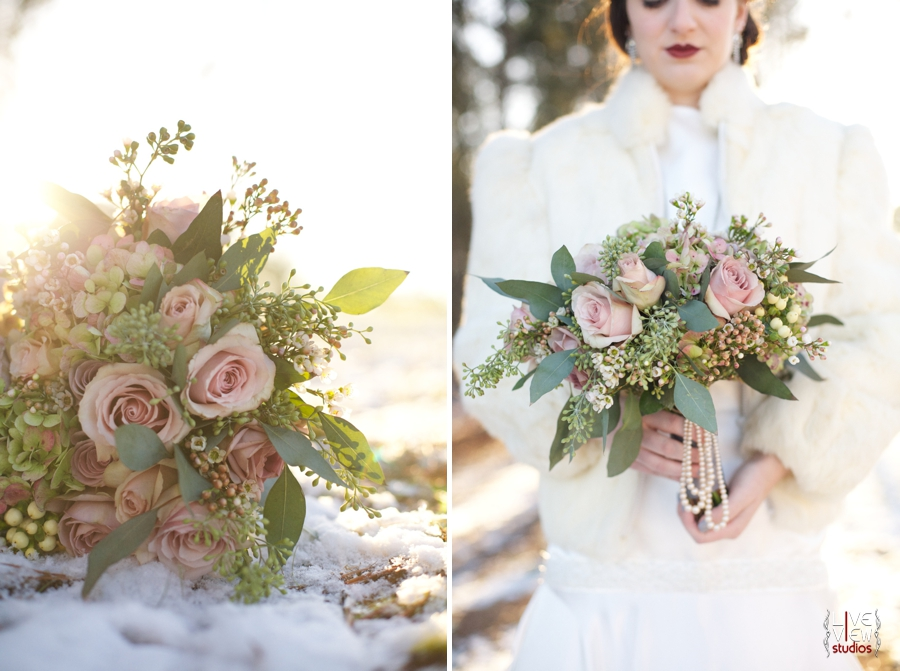 fresh blush pink rose bridal bouquet from embelished blooms, 1920s inspired wedding photography