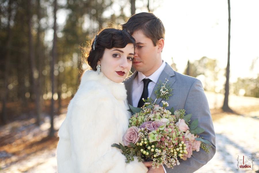 winter wedding photography, north carolina vintage wedding photographers