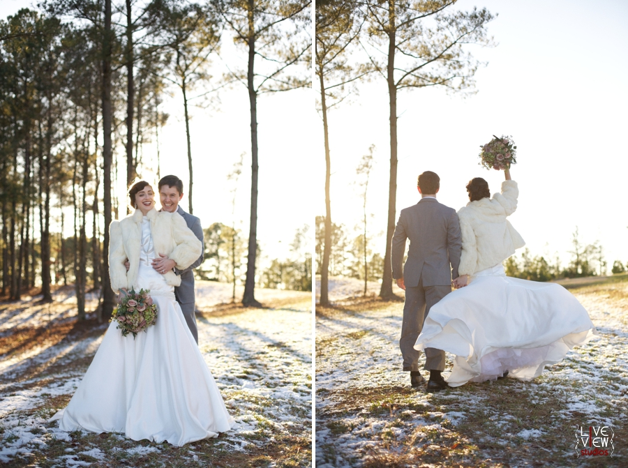 outdoor wedding photography, 20's winter wedding inspiration, raleigh nc wedding photographers