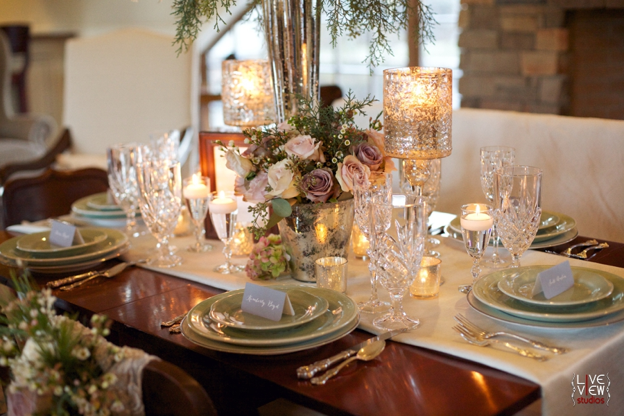 vintage inspired wedding photography, beautiful table settings at wedding reception