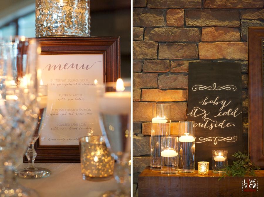 reception menu, winter wedding reception, raleigh nc wedding photographers