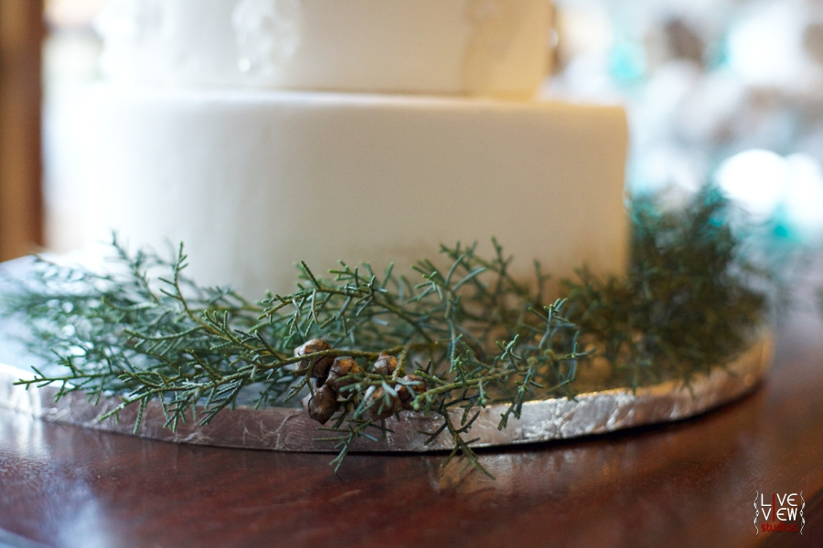 wintery wedding cake from Linacucina