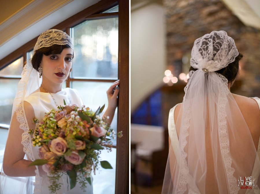 1920's inspired wedding photography, vintage cap veil, raleigh nc wedding photographers