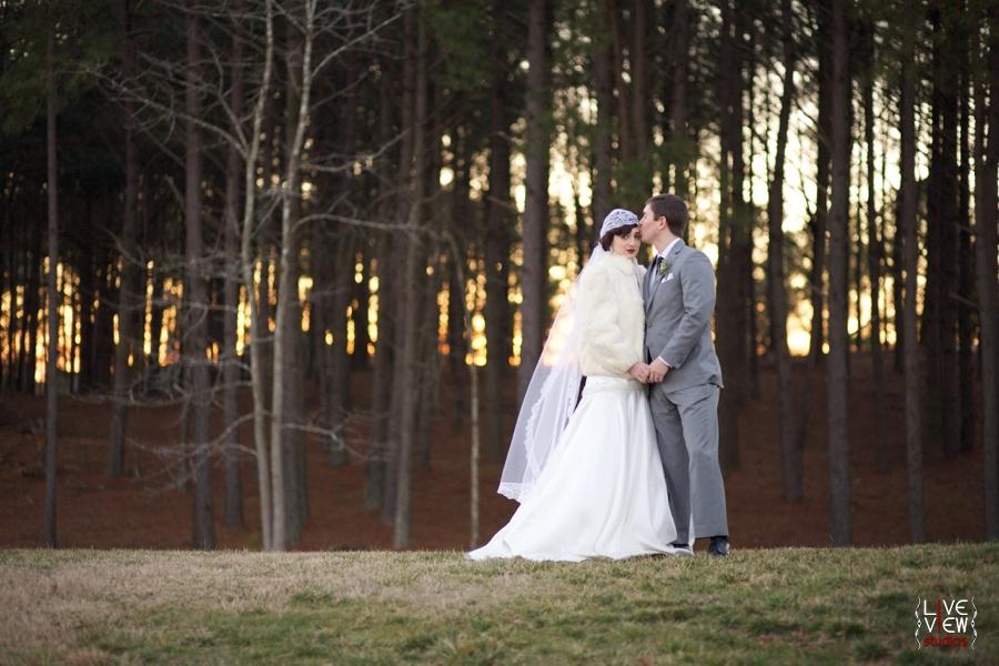 stunning sunset wedding portraits, raleigh nc wedding photographers