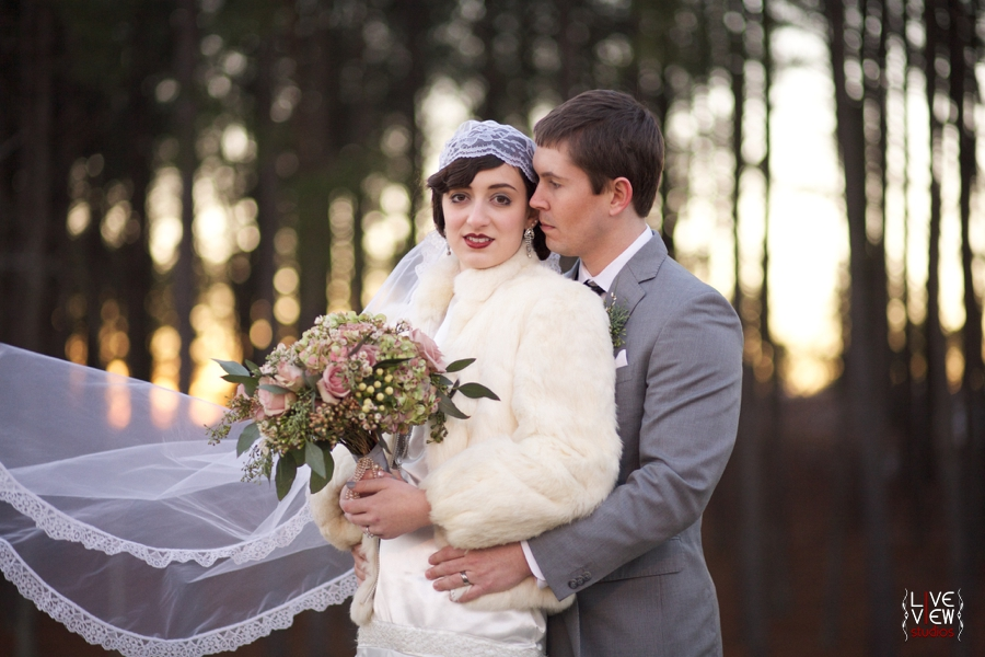 vintage winter wedding photography, raleigh nc wedding photographers