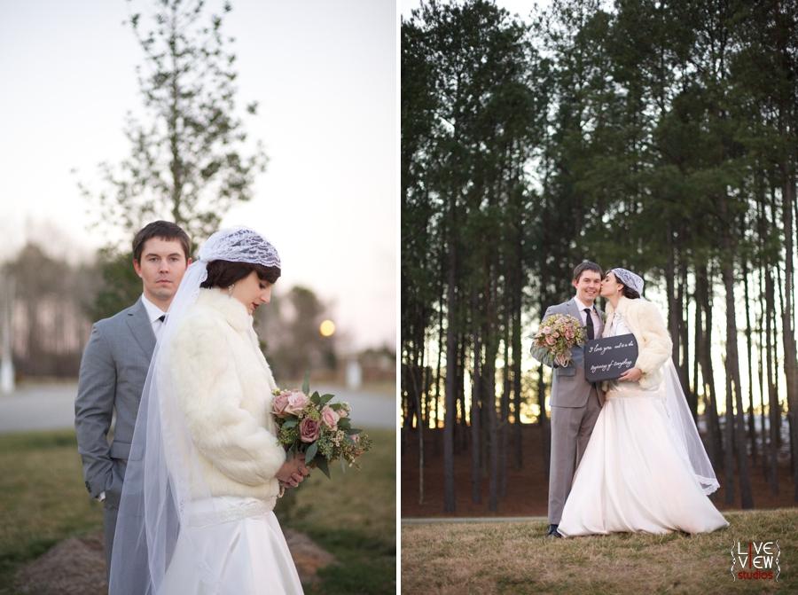 vintage winter wedding photography, romantic wedding portraits